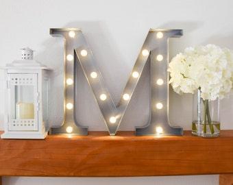 "Sorority Marquee Letter Light ""Mu"" // Greek Letter Marquee Lights // Light Up Letter Lights // Marquee Lighted Initials // Sorority Lights"