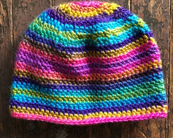 Classic Beanie Crochet hat (buy one donate one to the needy) muti color teen/small adult