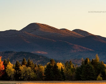 Algonquin Peak from Adirondak Loj Road, Lake Placid NY:Adirondack High Peaks Fine Art Photography Print 12x18
