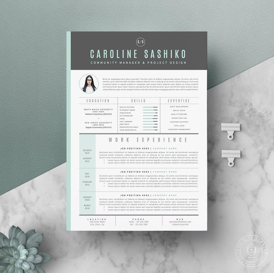 Reanudar la plantilla / plantilla de CV carta de