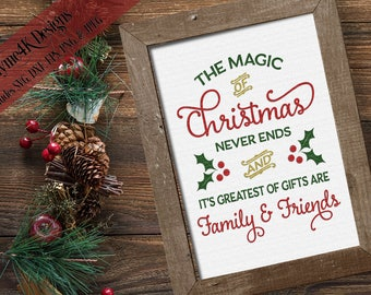 "Digital Design ""The Magic of Christmas..."" Instant Download- Includes svg, png, jpeg, dxf, & eps formats."