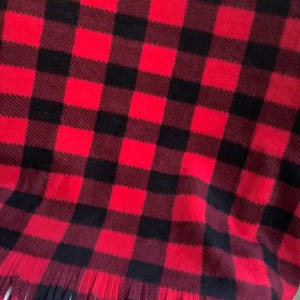 Red Buffalo Plaid Blanket, Red and Black Check Blanket, Pet /  Dog Blanket, Small Blanket, Throw Blanket, Fleece Blanket, Dog Accessories