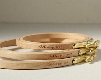 Nurge Wood Embroidery Hoop, Stitching Hoop, Cross Stitch Hoop, Bead Embroidery Hoop, Beading Hoop, Tapestry Hoop, Circle Hoop, Sewing hoop