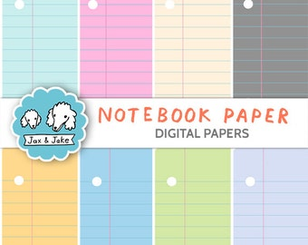 Notebook Paper Digital Papers / Backgrounds for Personal and Commercial Use