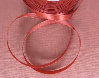 The meter Burgundy satin ribbon, width: 6 mm