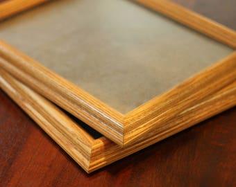 Vintage Twin Wooden Frames - 8x10  Rustic Frames - Wedding Decor - Home Decor - Wooden Frames - Antique Frames