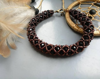 Bracelet black & copper