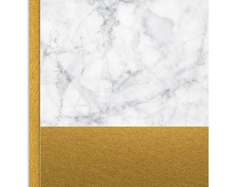 Marble and Gold Foil Notecard Set