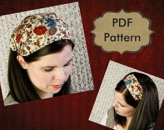 ADULT Headband Sewing Pattern PDF Wide Yoga Headband Pattern Fitness Headband Turban Headband Tutorial Sewing Pattern Womens Headband Adult