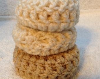3 Better Buns, Sock Bun, Perfect Bun, Bun Maker, Hair Donut, Crochet