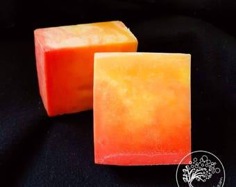 Orange Ombre Soap - Bubbledream Digital Art