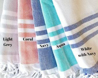 Striped Towel- Beach Towel, Travel Blanket/Towel, Bath Towel, Tapestry,  Bachelorette Party Gift, Turkish Towel