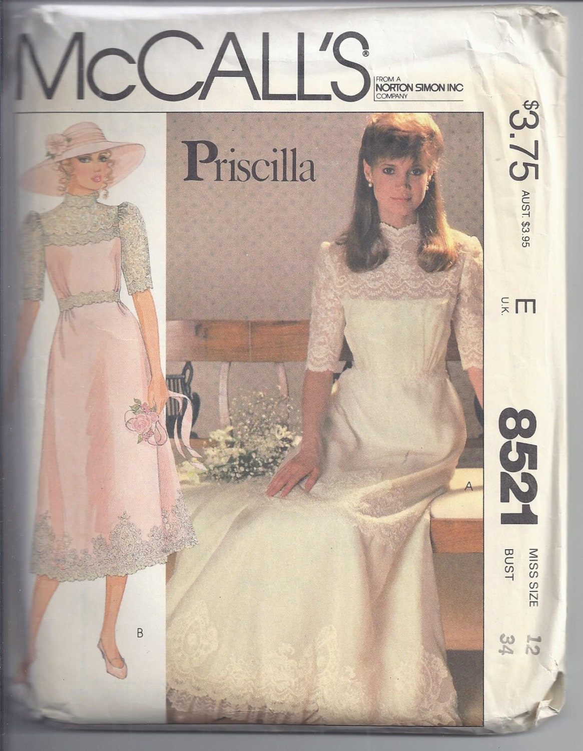 McCalls Pattern # 8521 1983 Misses Bridal and Bridesmaid Gowns by ...