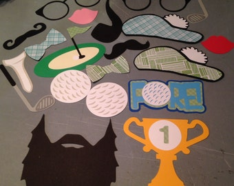 20 pc Golf Photobooth Props, Golf Photo Props, Golf party