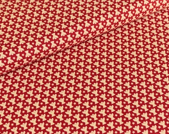 Cotton fabric joyful Christmas Angel cream/red (9,50 EUR / meter)
