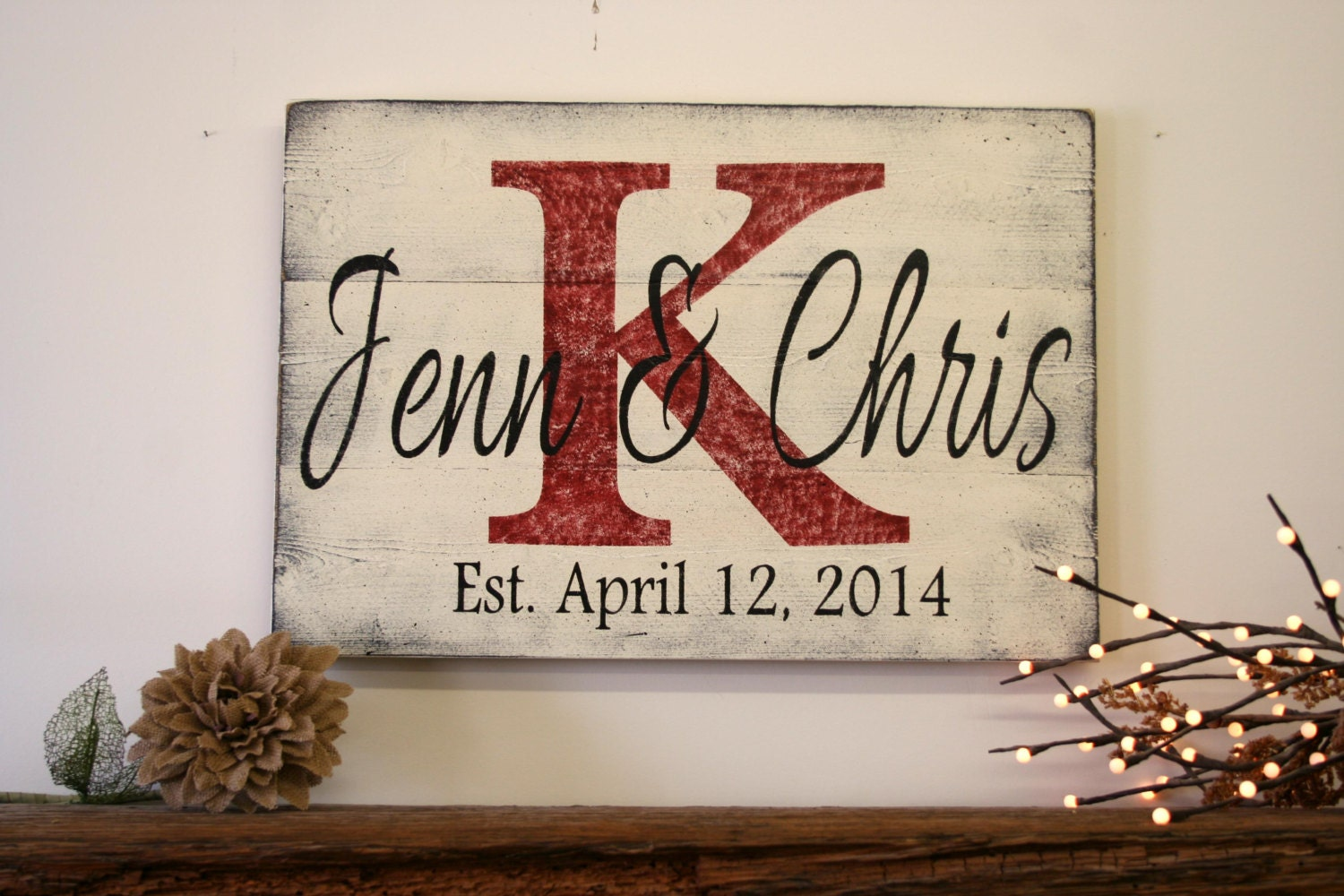 Wedding Gift Personalised: Personalized Name Sign Custom Name Sign Wedding Gift Bridal