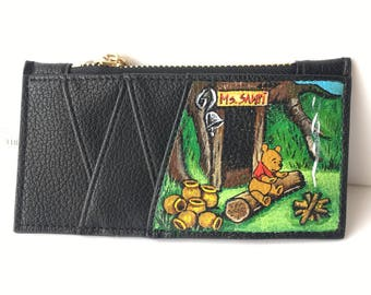 Hand Painted Slim Card Case