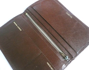 Vintage leather wallet -  brown leather wallet - English leather wallet
