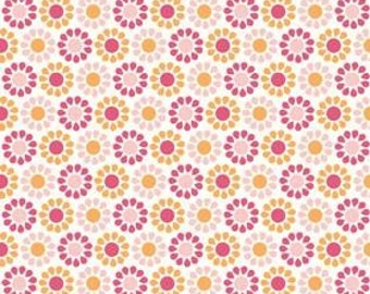 My Minds Eye for Riley Blake, Summer Song, Summer Blooms in Pink C7054 - 1 Yard - Clearance