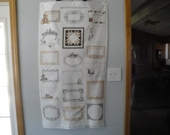 Quilting Labels Panel by Northcott Fabrics