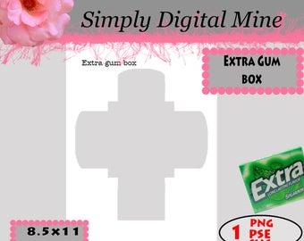 YOU Design!!!  Extra Gum Box Template !!