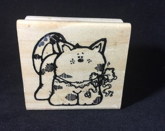 Kitty Rubber Stamp Used