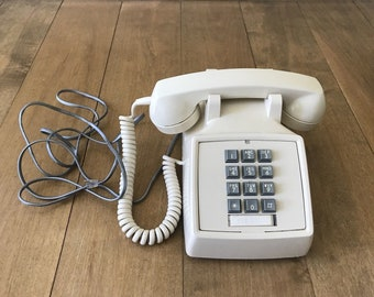 Vintage Northern Telecom Cream Colored Push Button Touch Tone Office Telephone...Works!