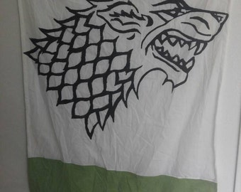 Stark Game Of Thrones Banner Flag Banner Chevron
