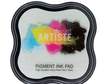 Clear Pigment Ink Pad - Docrafts Artiste Stamp Pad - Embossing Embellishment - Scrapbook Embellishment - Christmas Crafts - DIY Embossing