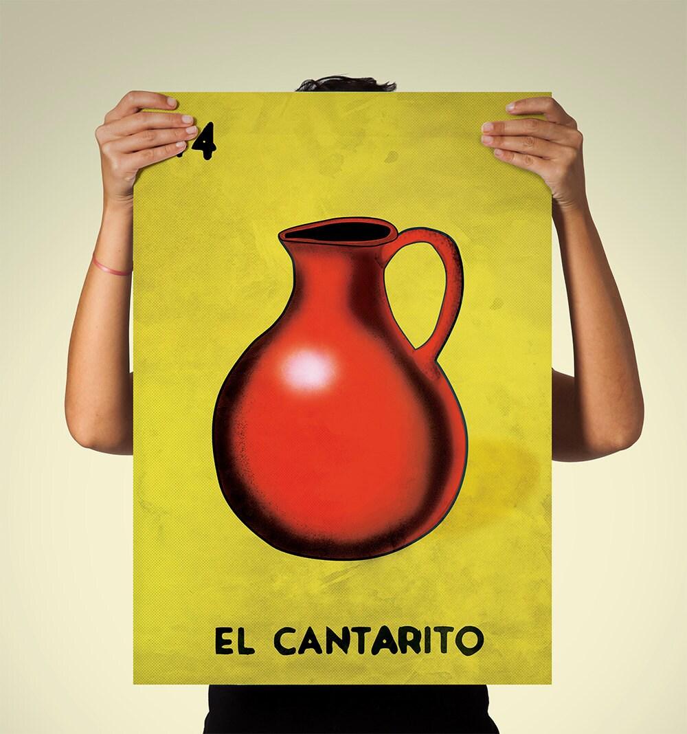Loteria El Cantarito Mexican Retro Illustration Art Print
