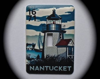METAL Decorative Single Switch Plate ~ Lighthouse, Nantucket, Light  Switchplate, Switch Plate Cover