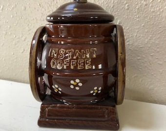 Vintage Instant Coffee Container / Jar