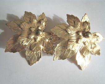 Sarah Coventry Leaf Clip Earrings