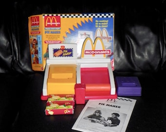 Vintage 1993 McDonalds Happy Meal Magic Pie Maker Mattel Play Set in Box - Rare