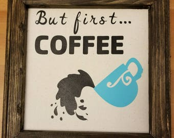 But First Coffe Canvas