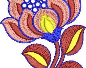 Machine Embroidery Design-Beauty Flower001 5 Inch X 4 Inch format emb dst exp pes jef sew hus