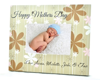 Mothers Day Personalized Picture Frame for 4x6 Photo Custom Frame Gift UPMD-01