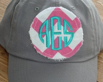 Preppy Monogrammed Baseball Cap hat Bridesmaid Sorority Christmas gift Personalized hat