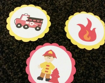 Fire Fighter Cupcake toppers