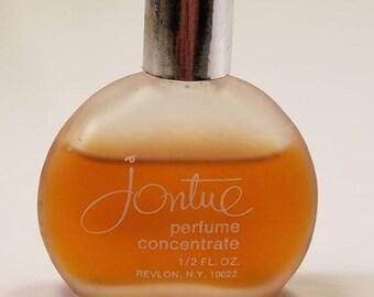Vintage 1970's Revlon Jontue Perfume Concentrate 0.5 oz