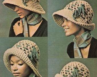 Wide Brim Cloche Hat Crochet Pattern Large Brim Hat Cap Crochet Pattern PDF Instant Download