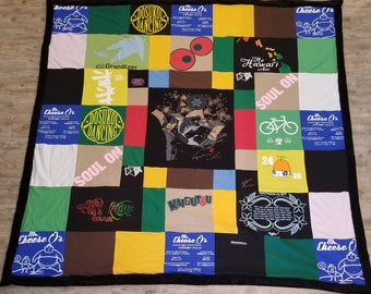 Queen Size Personalized Memory Quilt