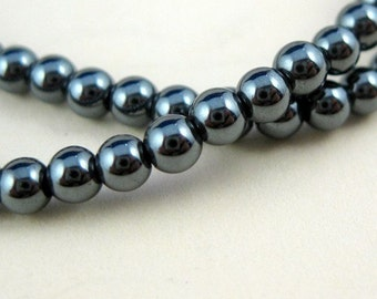 Full strand 16 inches Nature Hematite Seed beads A grade - 4mm sku: OB001