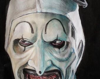 Art the Clown from the movie Terrifier , Horror art , Terrifier