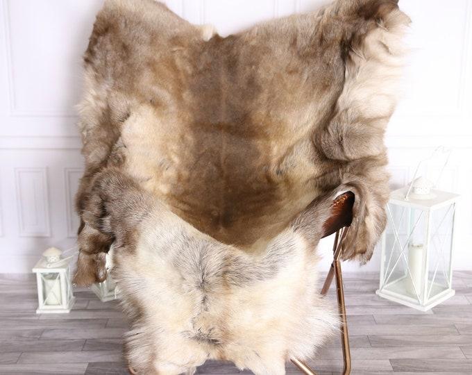 Reindeer Hide   Reindeer Rug   Reindeer Skin   Throw Large  - XXXL GIANT Scandinavian Style #BRE5