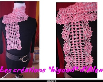 Very pretty cotton scarf pink gradient