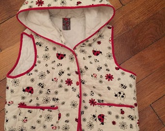 Quilted sleeveless vest size 6 years