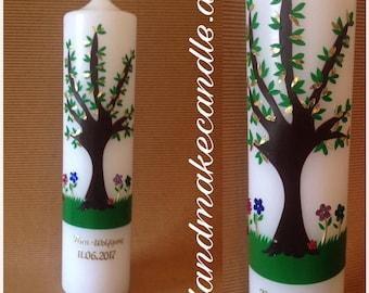 Christening life Tree 300 x 70 mm-Christening with name and date-Christening girl-Christening boy