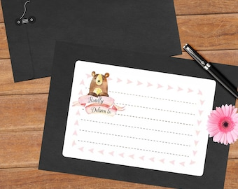Woodland bear - 8 mailing labels