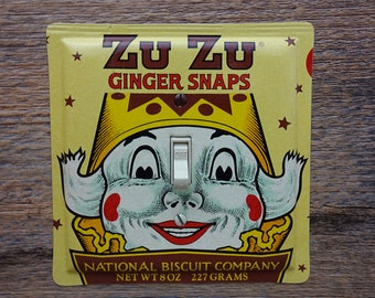 Zu Zu The Clown Decor Vintage Tin Light Switch Cover Switchplate Made From An Old Ginger Snaps Nabisco Advertising Tins Can Single SP-0154